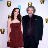 Peter Jackson y su hija en la alfombra roja de los BAFTA 2019