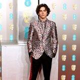 Timothée Chalamet en la alfombra roja de los BAFTA 2019