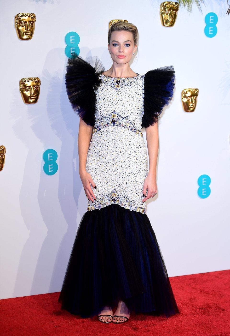 Margot Robbie en la alfombra roja de los BAFTA 2019