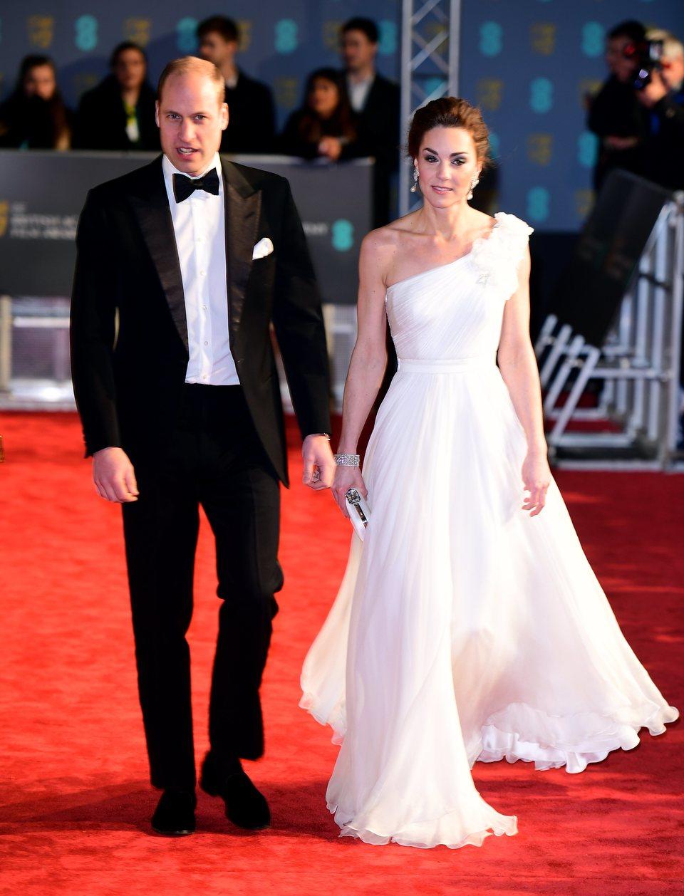 Los duques de Cambridge en la alfombra roja de los BAFTA 2019