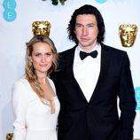 Adam Driver y Joanne Tucker en la alfombra roja de los BAFTA 2019