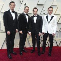 Gwilym Lee, Allen Leech, Joseph Mazzello y Ben Hardy en los Oscar 2019