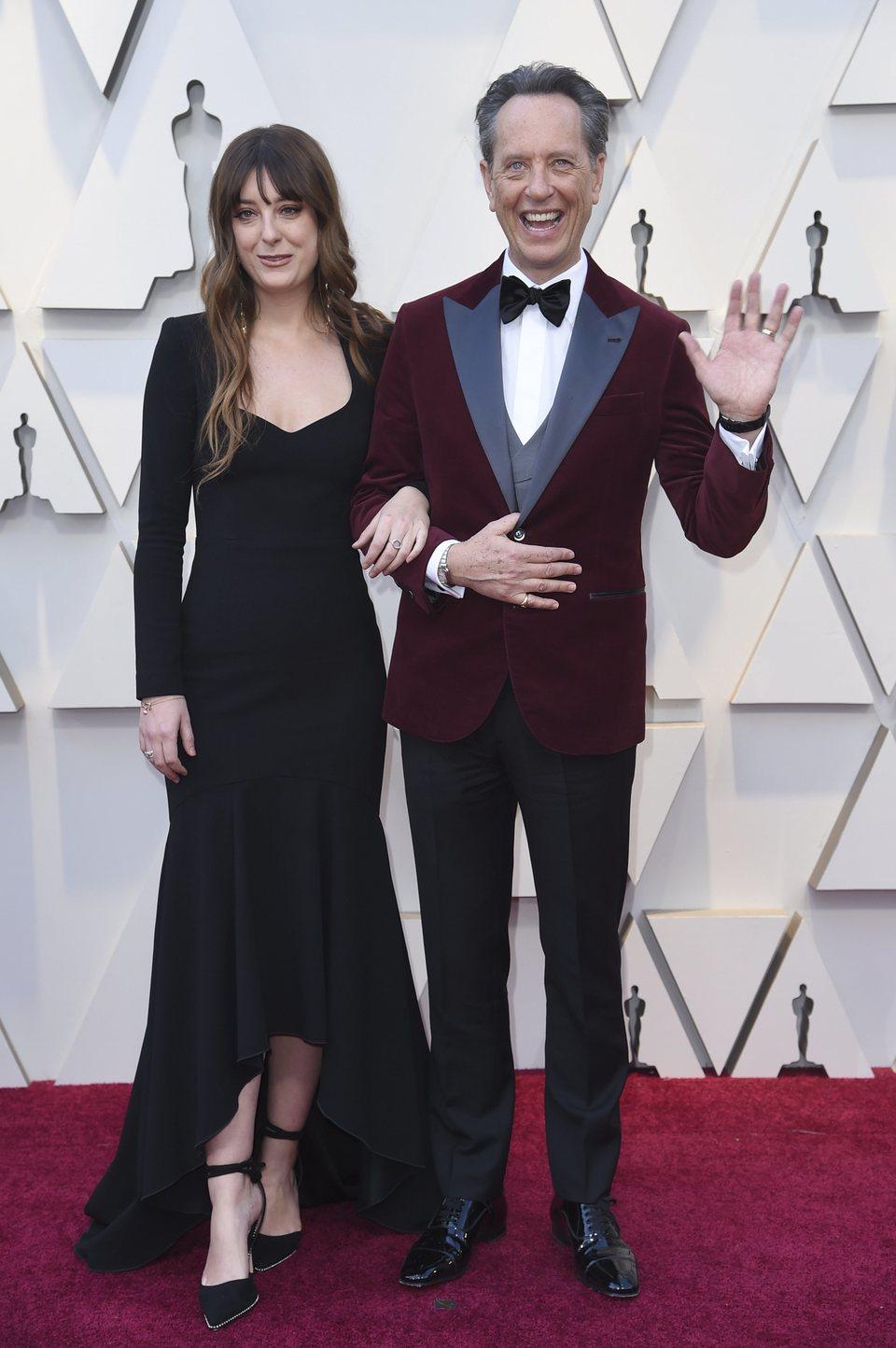 Richard E. Grant and Olivia Grant at the Oscars 2019 red carpet