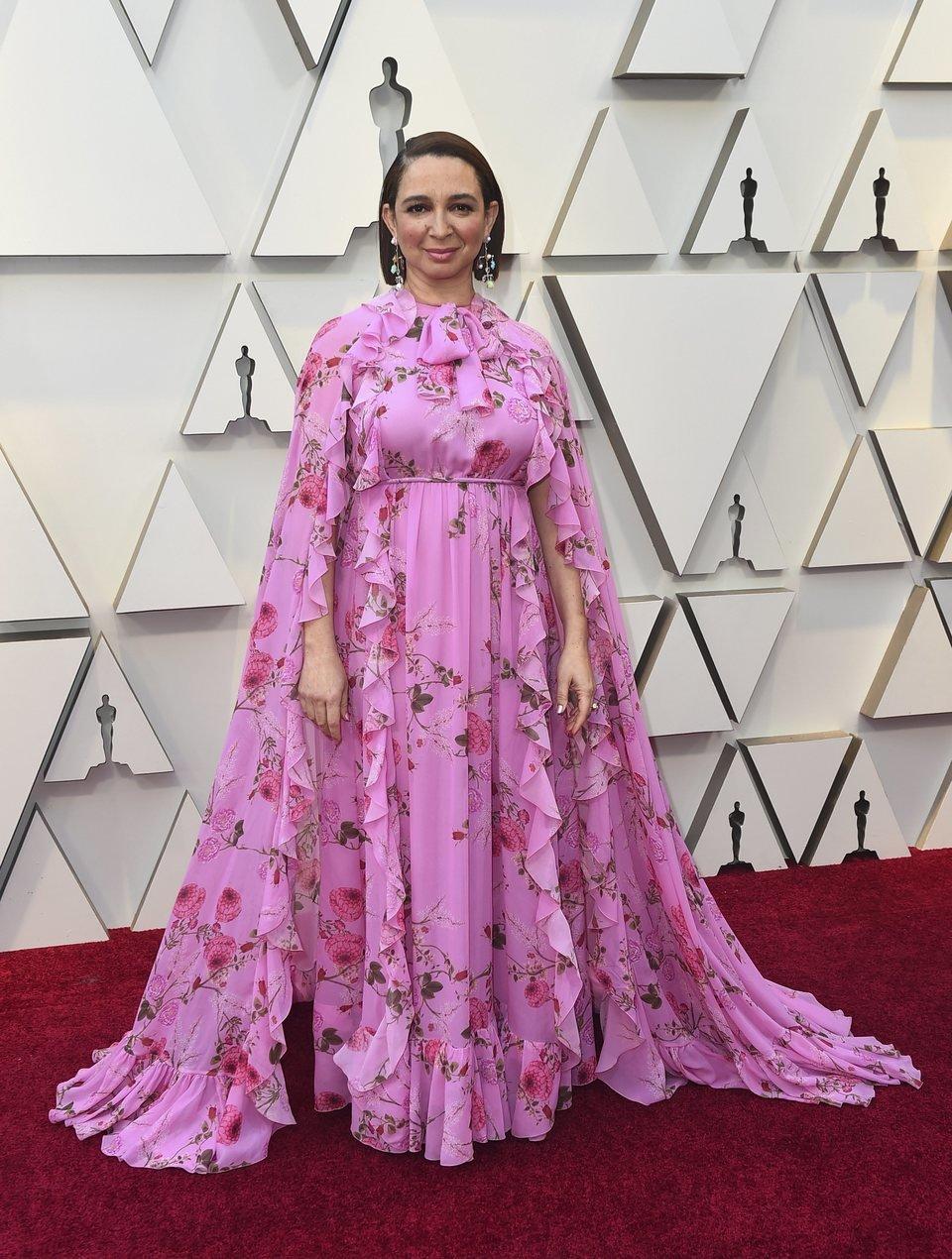 Maya Rudolph en la alfombra roja de los Oscar 2019