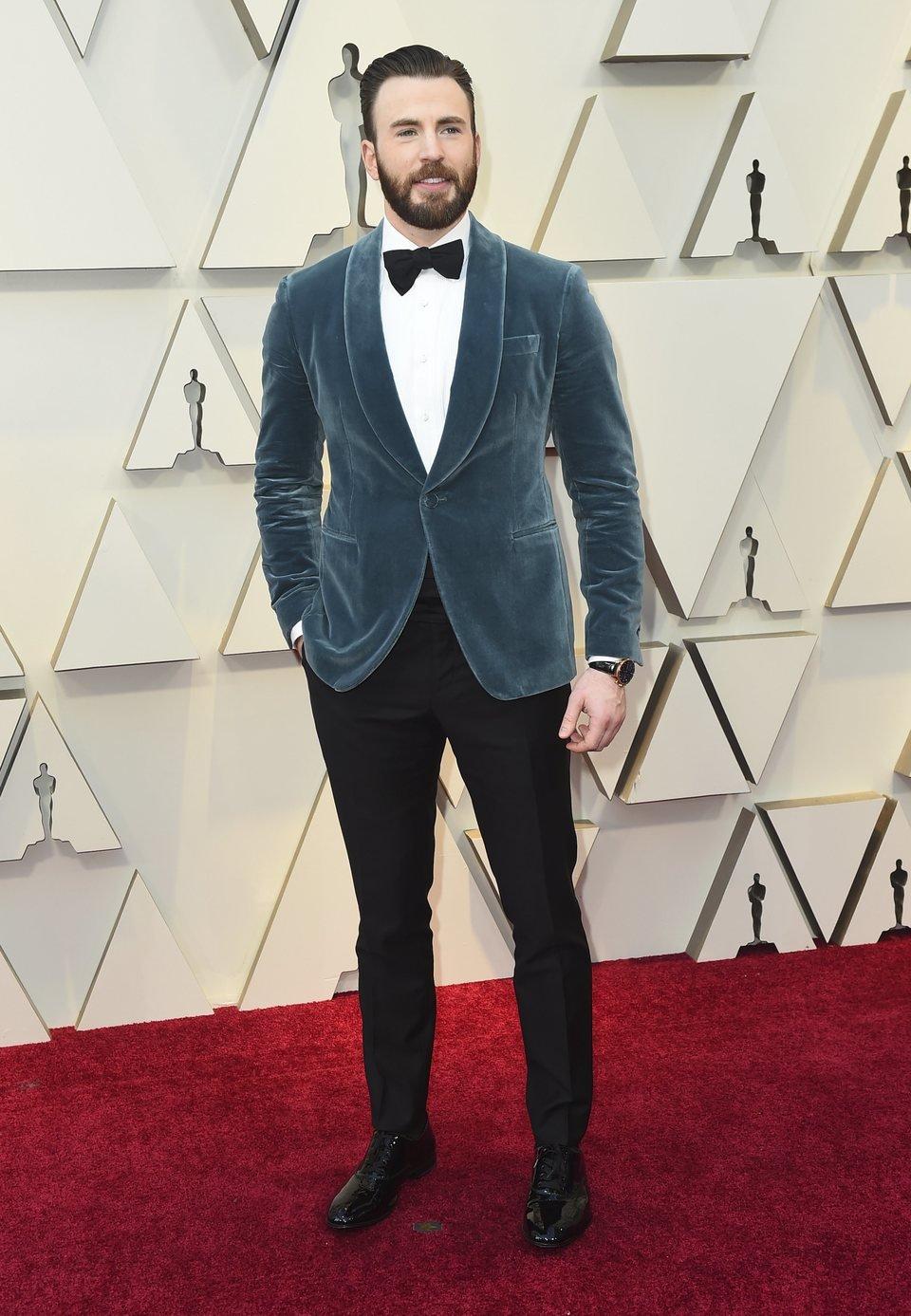 Chris Evans en la alfombra roja de los Oscar 2019