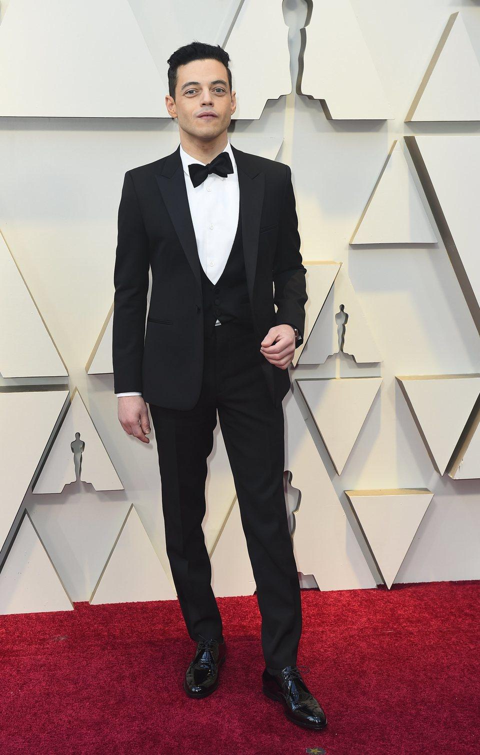 Rami Malek en la alfombra roja de los Oscar 2019