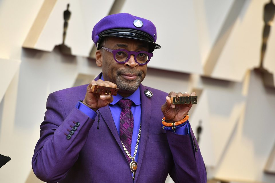Spike Lee on the red carpet at the Oscars 2019