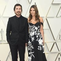 Christian Bale and Sibi Blazicon the red carpet at the Oscars 2019