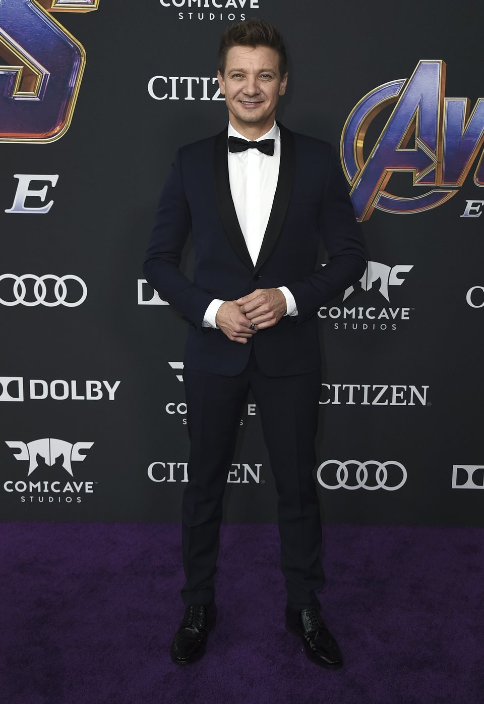 Jeremy Renner en la alfombra roja de 'Vengadores: Endgame'