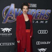 Evangeline Lilly en la alfombra roja de 'Venagdores: Endgame'