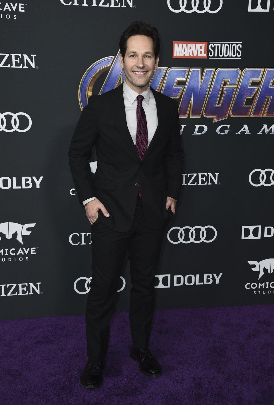 Paul Rudd en la alfombra roja de 'Vengadores: Endgame'