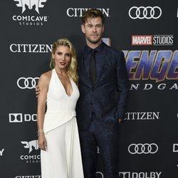 Chris Hemsworth y Elsa Pataky en la alfombra roja de 'Vengadores: Endgame'