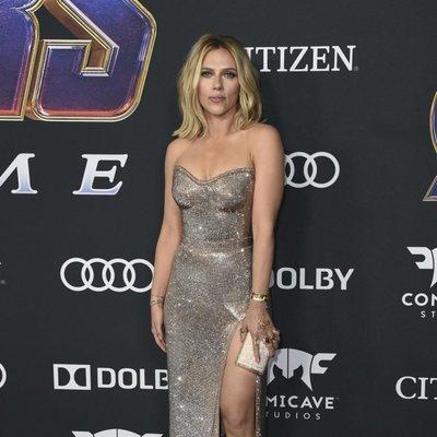 Scarlett Johansson en la alfombra roja de 'Vengadores: Endgame'