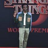 Caleb McLaughlin en la premiere de la tercera temporada de 'Stranger Things'