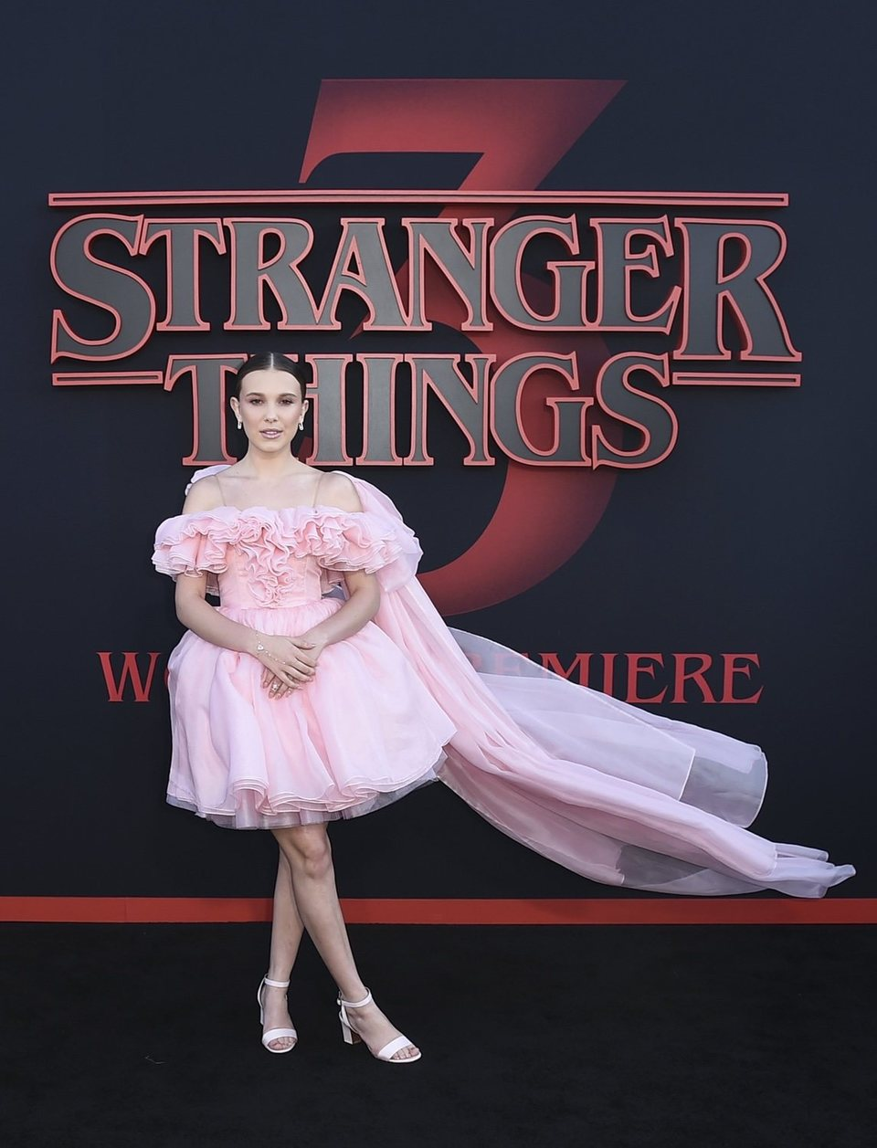 Millie Bobby Brown en la premiere de la tercera temporada de 'Stranger Things'