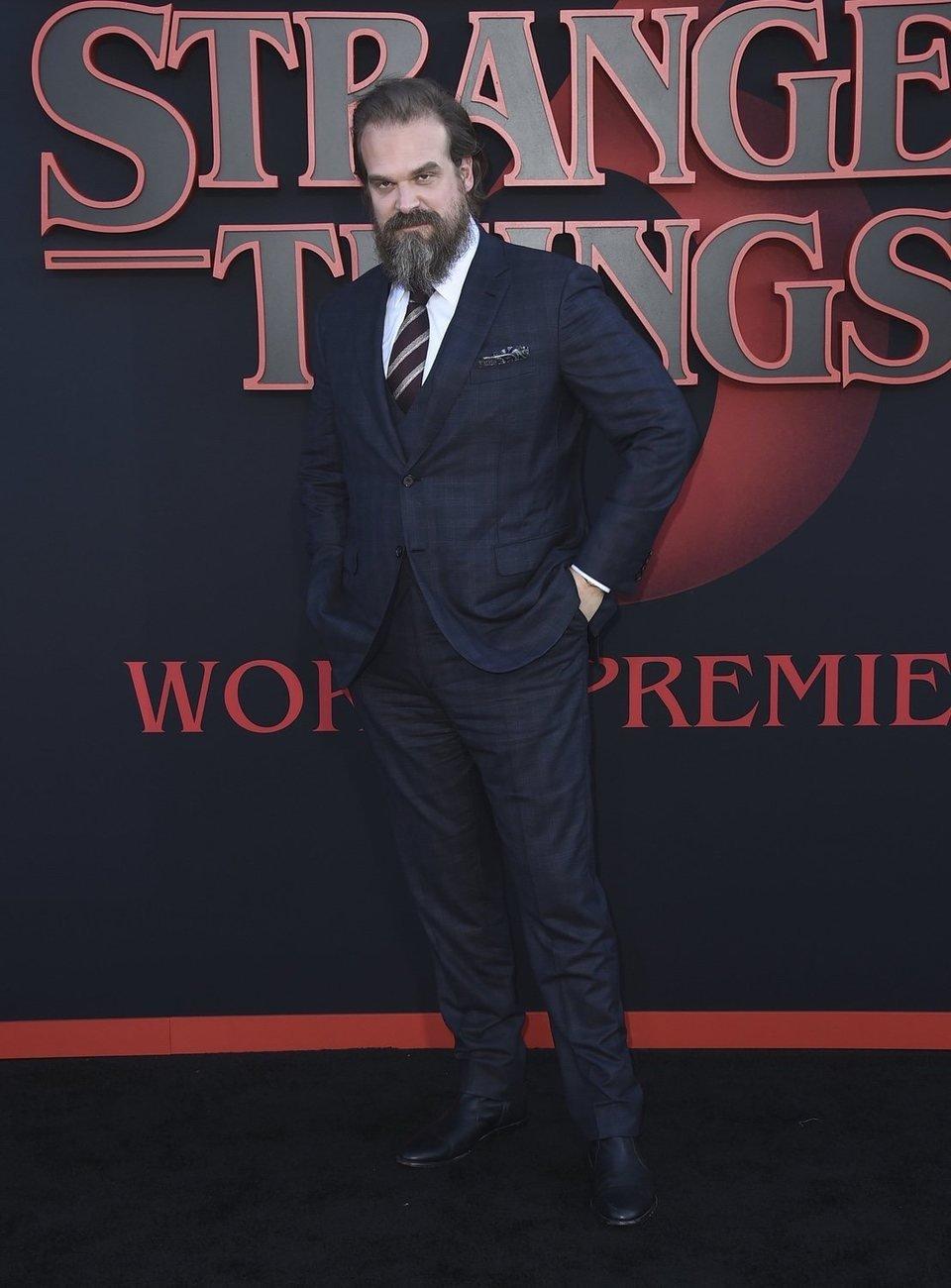 David Harbour en la premiere de la tercera temporada de 'Stranger Things'