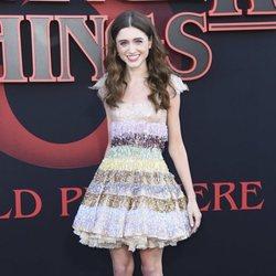 Natalia Dyer en la premiere de la tercera temporada de 'Stranger Things'