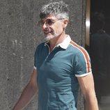 Nacho Guerreros acude al tanatorio por la muerte de Eduardo Gómez