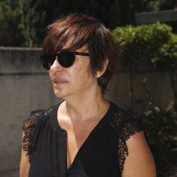 Melani Olivares acude al tanatorio por la muerte de Eduardo Gómez