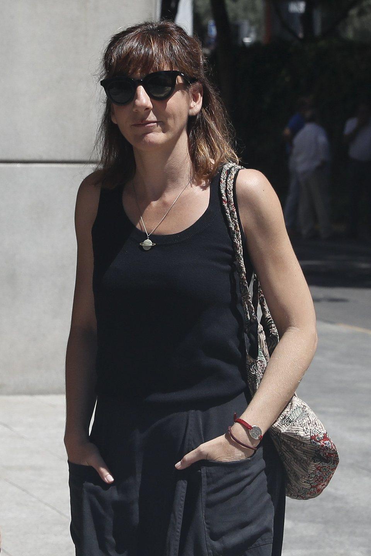 Malena Alterio acude al tanatorio por la muerte de Eduardo Gómez