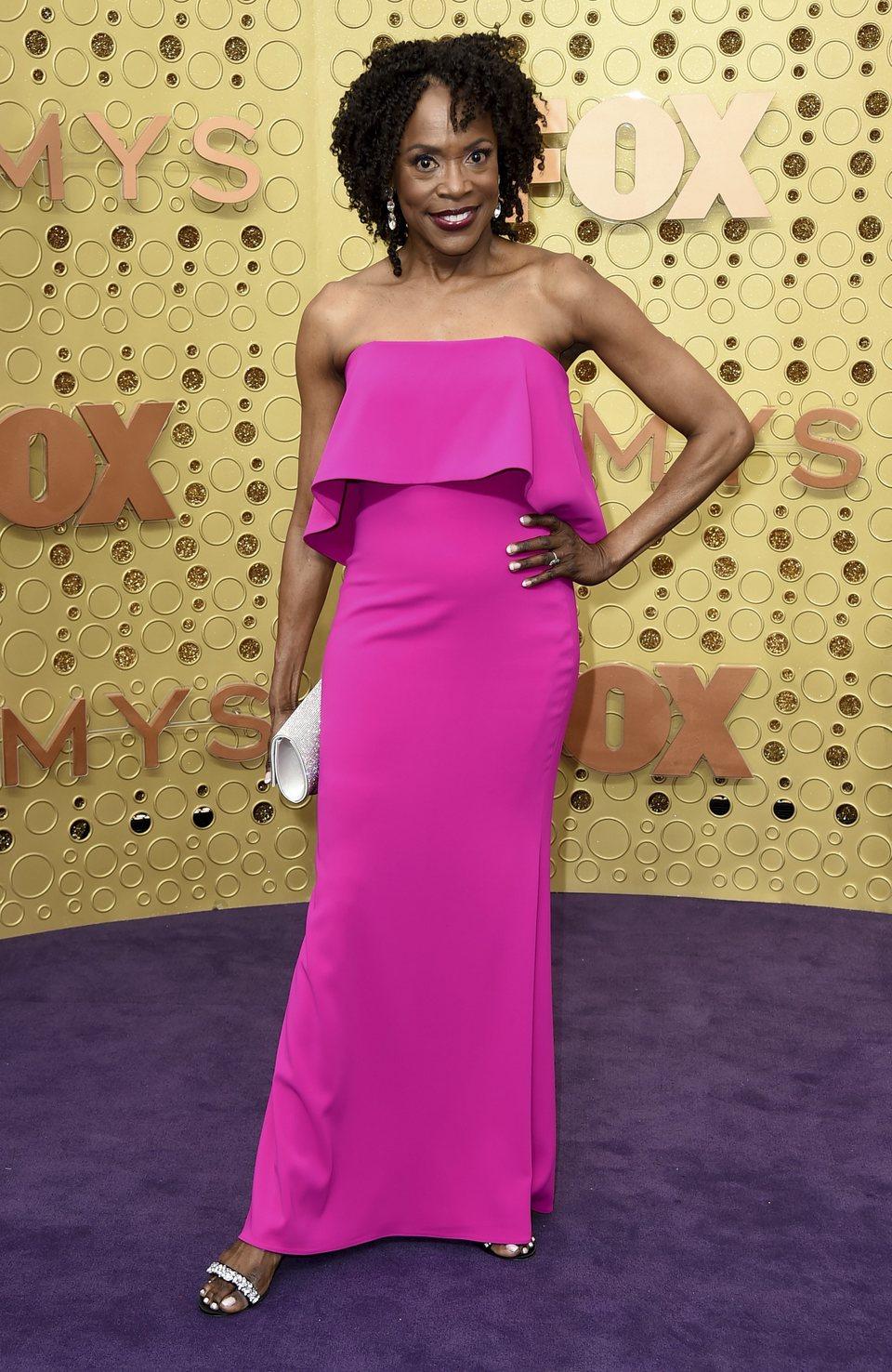 Charlayne Woodard en la alfombra roja de los Emmy 2019