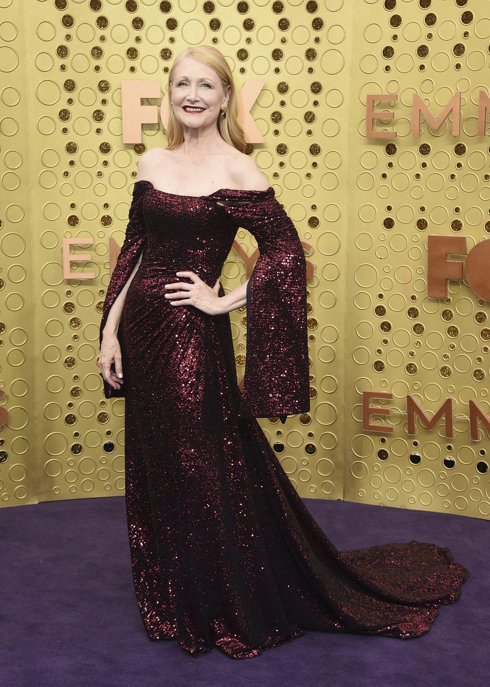 Patricia Clarkson en la alfombra roja de los premios Emmy 2019