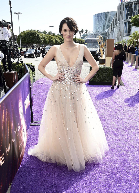 Phoebe Waller-Bridge en la alfombra roja de los premios Emmy 2019
