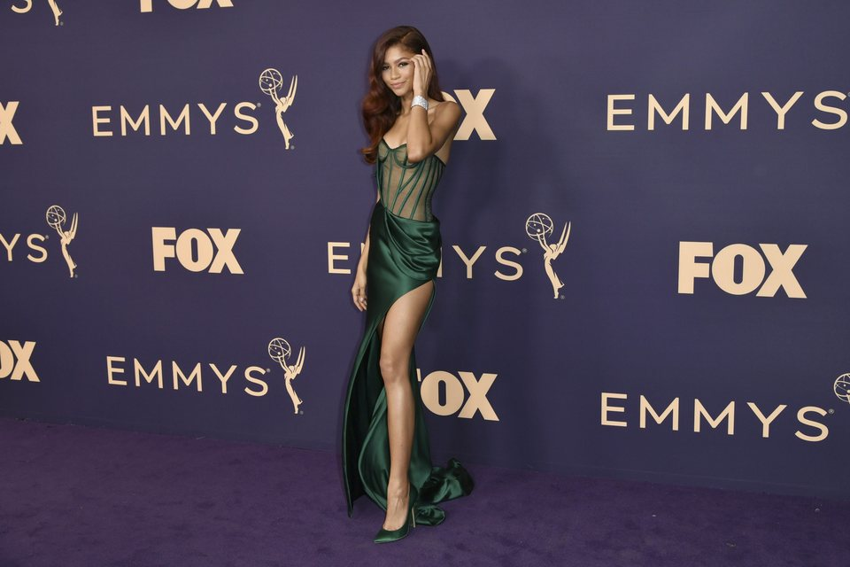 Zendaya en la alfombra roja de los Emmy 2019