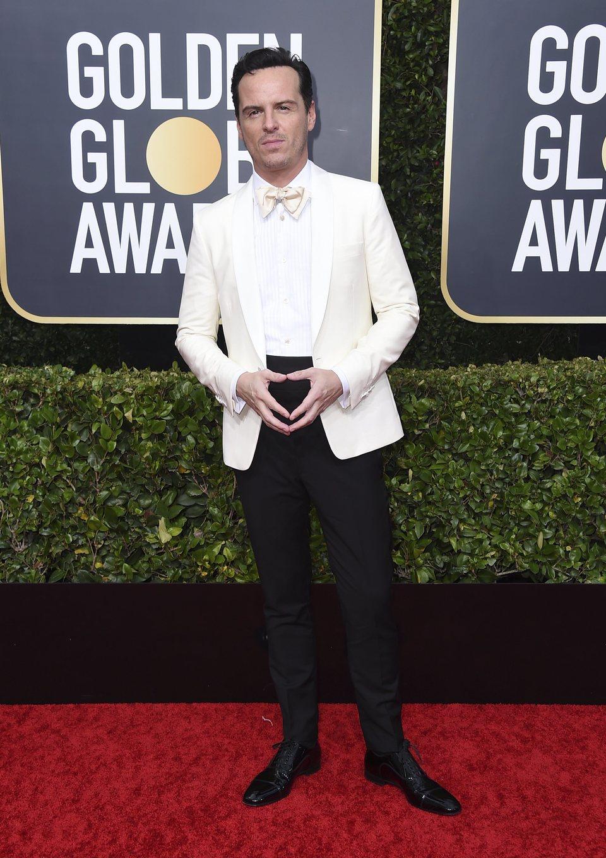 Andrew Scott en la alfombra roja de los Globos de Oro 2020