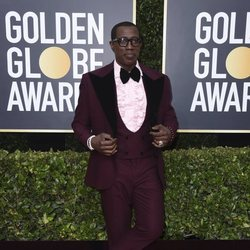 Wesley Snipes en la alfombra roja de los Globos de Oro 2020