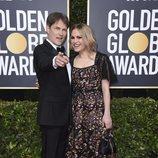 Anna Paquin y Stephen Moyer en la alfombra roja de los Globos de Oro 2020