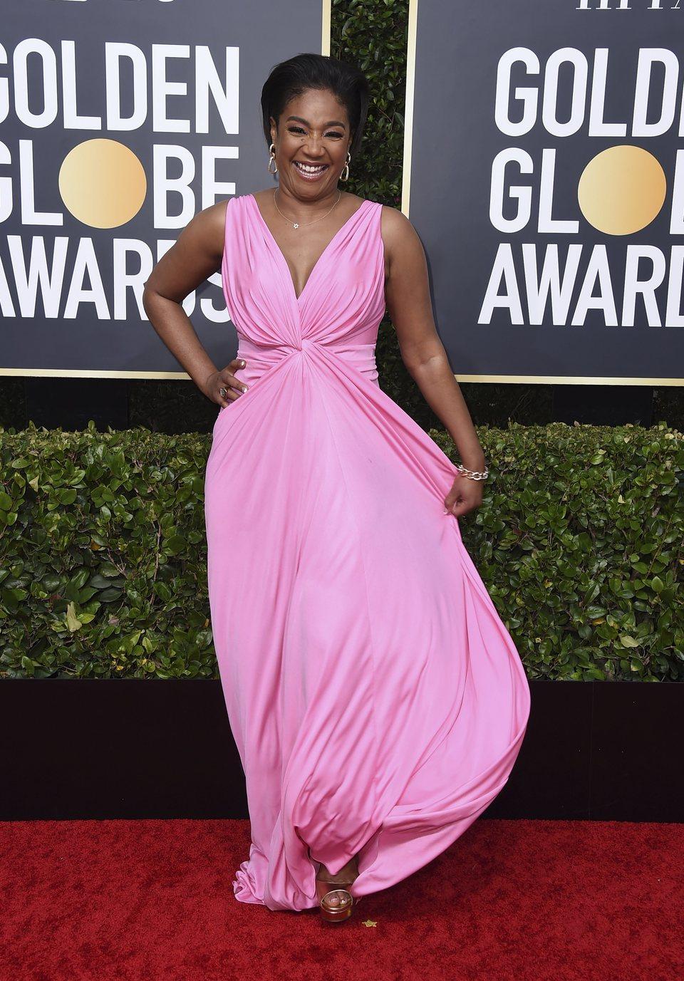 Tiffany Haddish en la alfombra roja de los Globos de Oro 2020