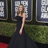 Jennifer Aniston en la alfombra roja de los Globos de Oro 2020