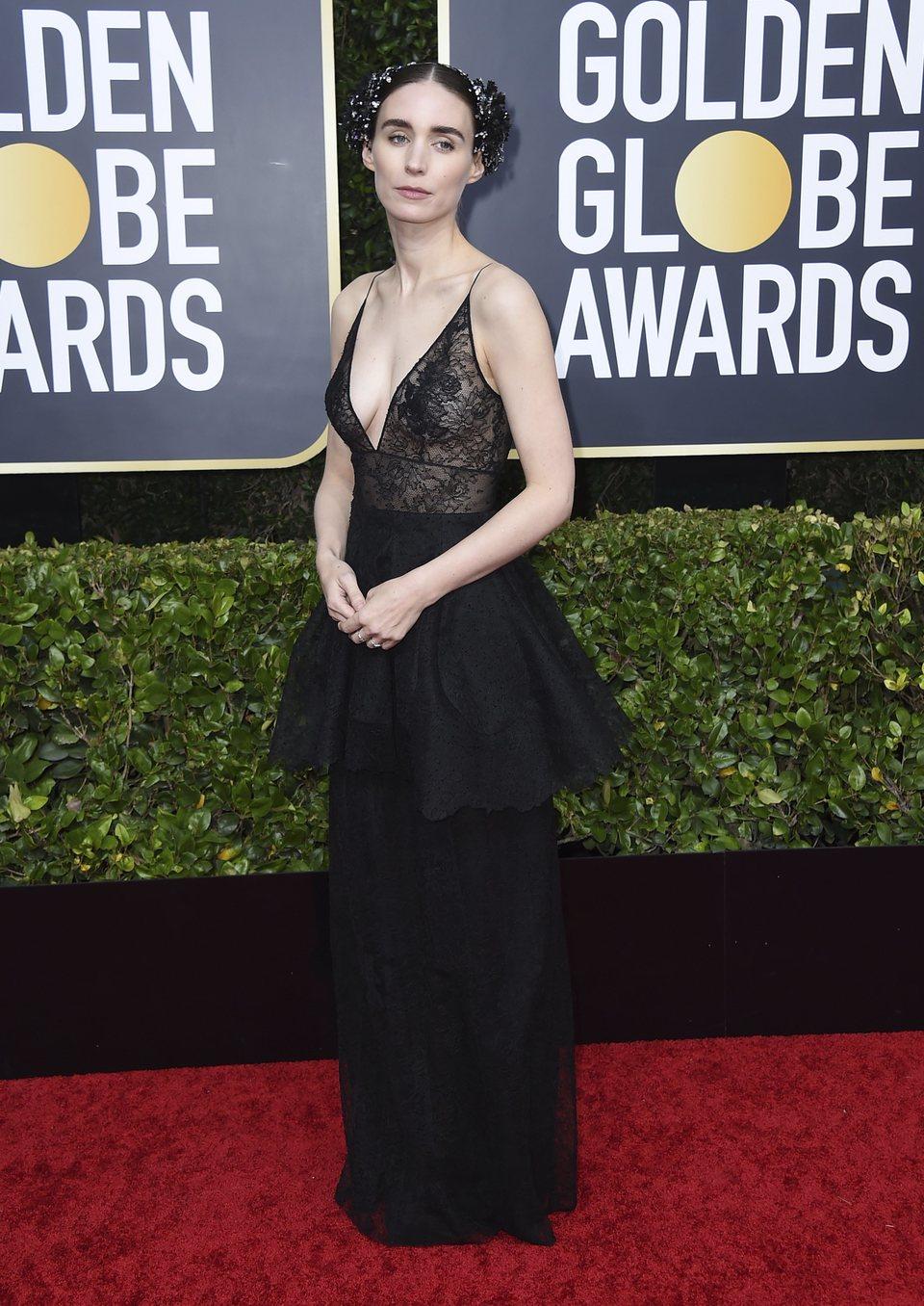 Rooney Mara en la alfombra roja de los Globos de Oro 2020