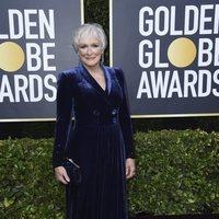 Glenn Close en la alfombra roja de los Globos de Oro 2020