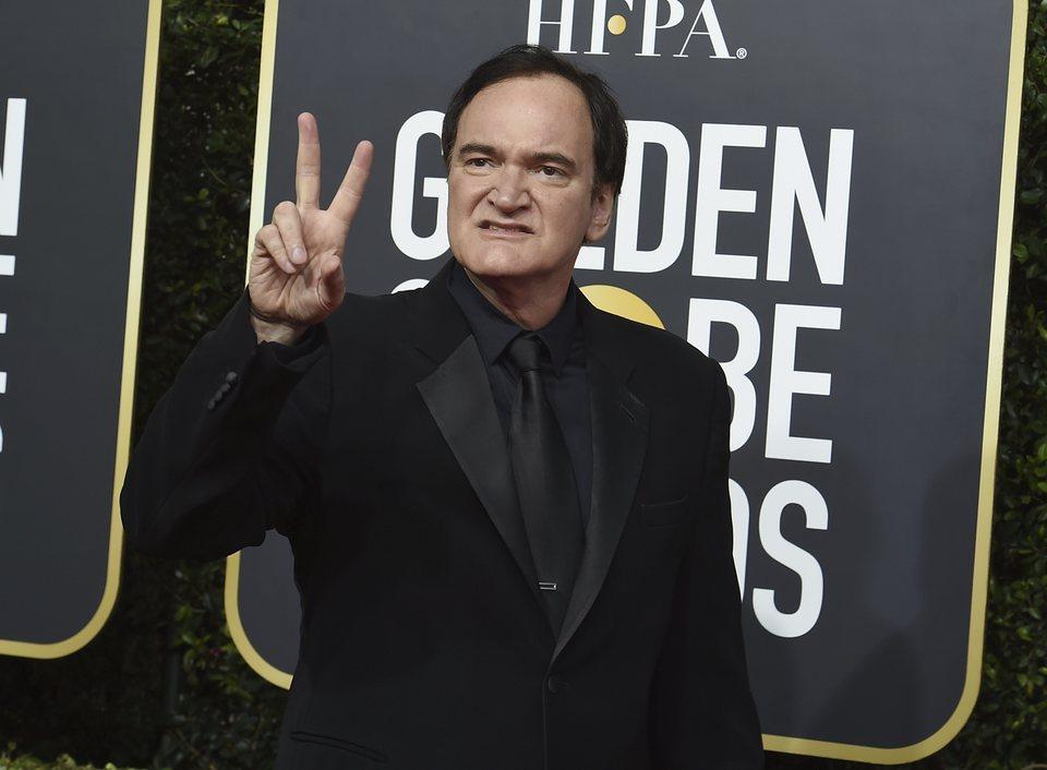 Quentin Tarantino en la alfombra roja de los Globos de Oro 2020