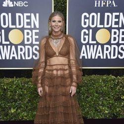 Gwyneth Paltrow posa en la alfombra roja de los Globos de Oro 2020