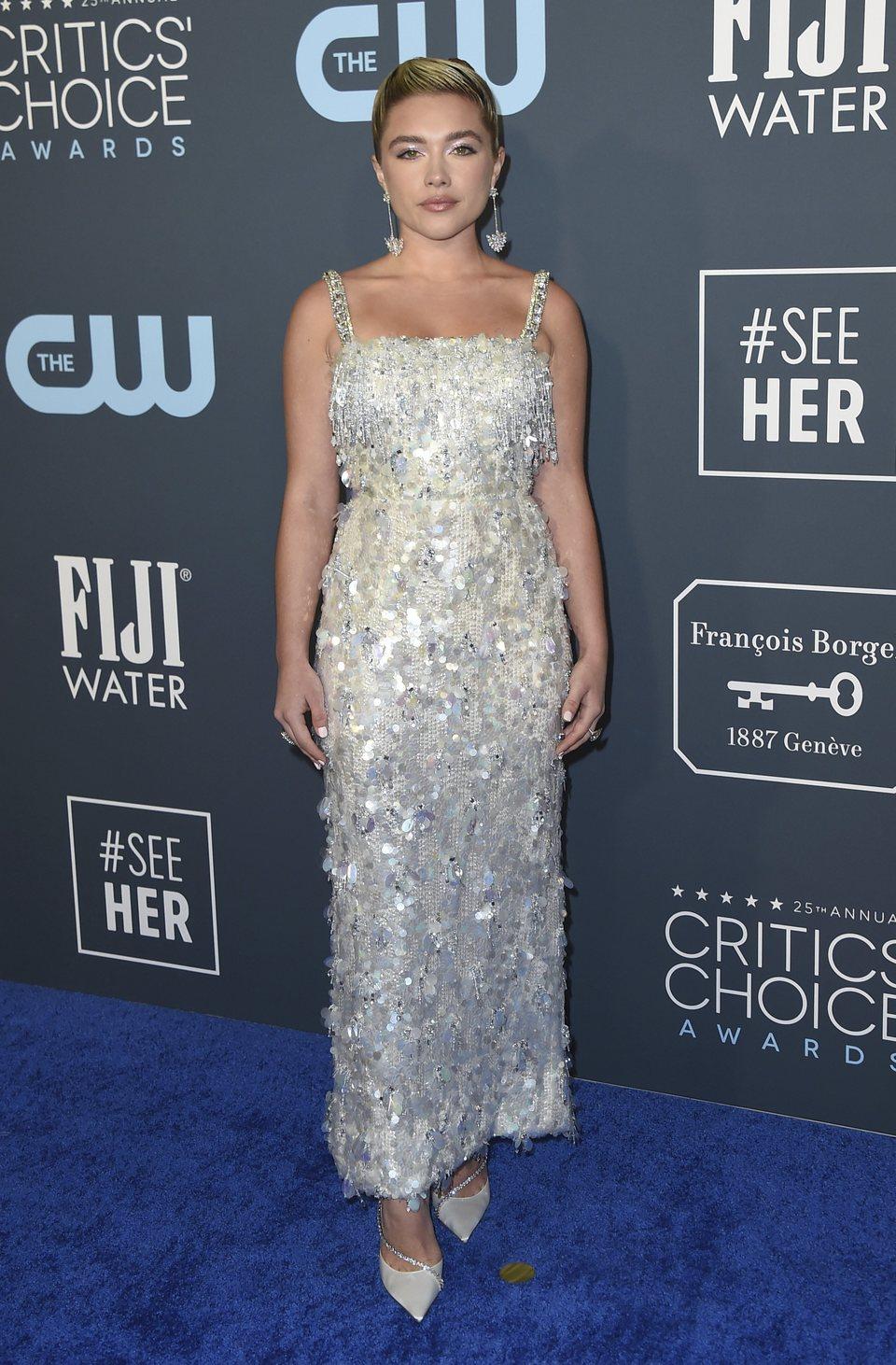 Florence Pugh en la alfombra de los Critics' Choice Awards 2020