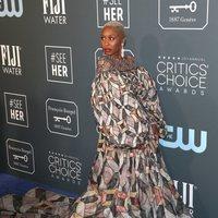 Cynthia Erivo en la alfombra roja de los Critics' Choice Awards 2020