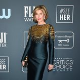 Christine Baranski en la alfombra roja de los Critics' Choice Awards 2020