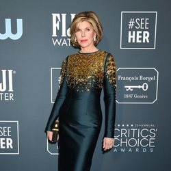 Christine Baranski en la alfombra roja de los Critics' Choice Awards 2020