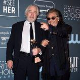 Robert De Niro y Al Pacino en la alfombra roja de los Critics' Choice Awards 2020