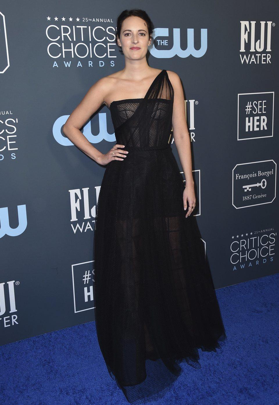 Phoebe Waller-Bridge en la alfombra de los Critics' Choice Awards 2020