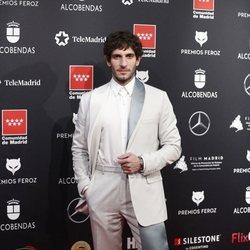 Quim Gutiérrez  en la alfombra roja de los Premios Feroz 2020