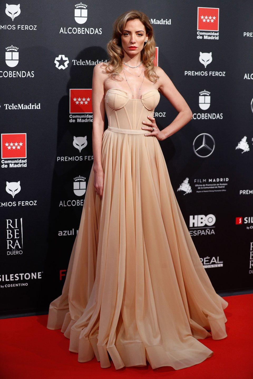 María Hervás en la alfombra roja de los Premios Feroz 2020