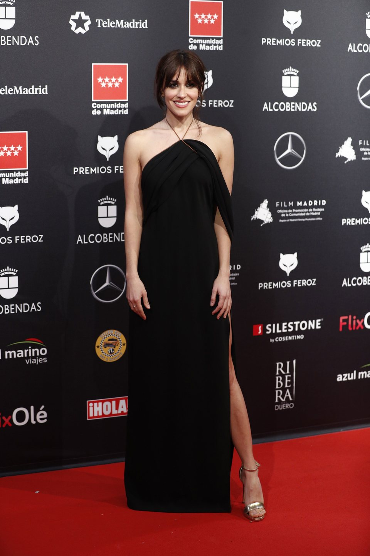 Macarena García en la alfombra roja de los Premios Feroz 2020