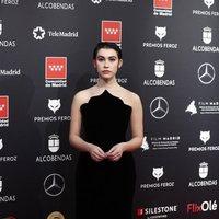 Greta Fernández en la alfombra roja de los Premios Feroz 2020