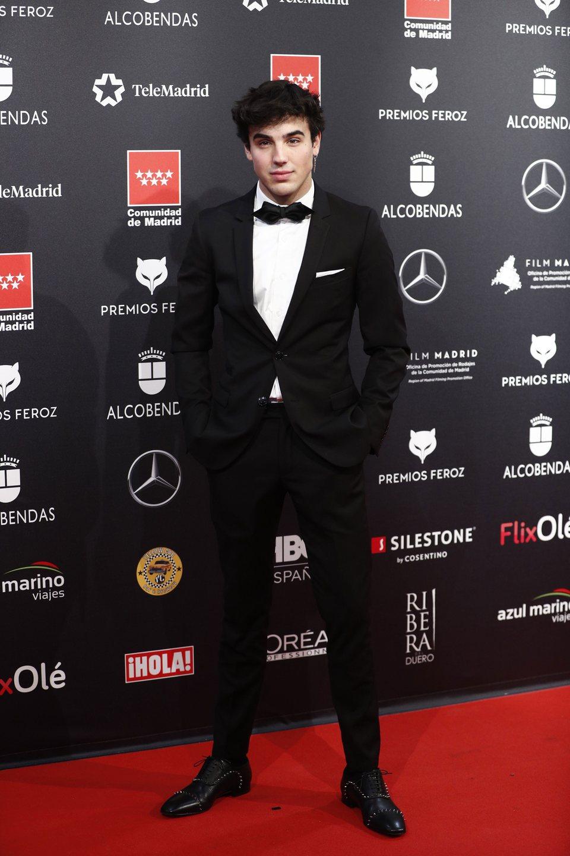 Oscar Casas en la alfombra roja de los Premios Feroz 2020