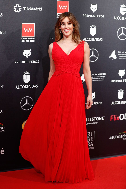 Eva Ugarte en la alfombra roja de los Premios Feroz 2020