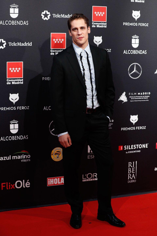 Martiño Rivas en la alfombra roja de los Premios Feroz 2020